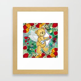 Cupid Bear Framed Art Print