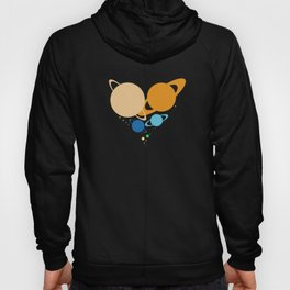Solar System Heart (to scale) Hoody