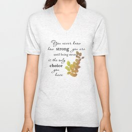 You are Strong Unisex V-Neck