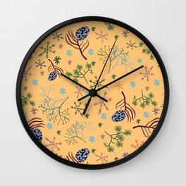 Winterpattern2 Wall Clock