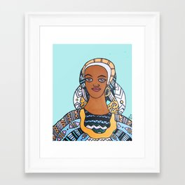 Creole Woman in Mint Framed Art Print