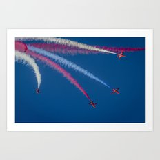 Red Arrows 1,2,3,  Art Print