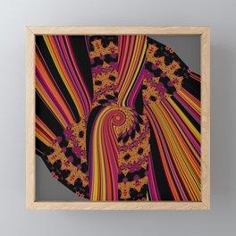 Fluid abstract digital pattern fire colors Framed Mini Art Print
