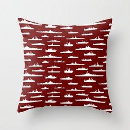 Battleship // Maroon Throw Pillow