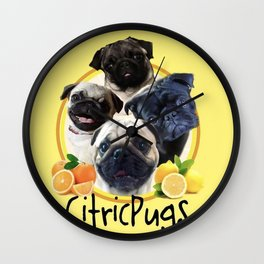 Citricpugs Wall Clock