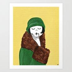 Ramona, deep in thought Art Print