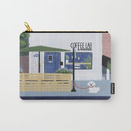 Coffee Lab: White Pup Carry-All Pouch