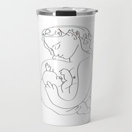 Picasso breast feeding mother, beautiful relationship, mothers day gift, anti war art, peaceful positive art Travel Mug