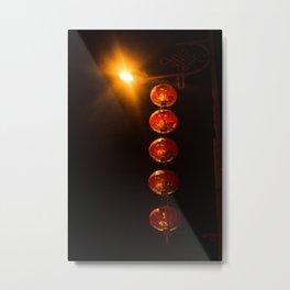 Street Lanterns in Taiwan Metal Print