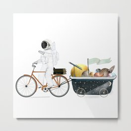 space bath Metal Print