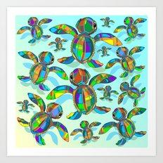 Baby Sea Turtle Fabric Toy Art Print
