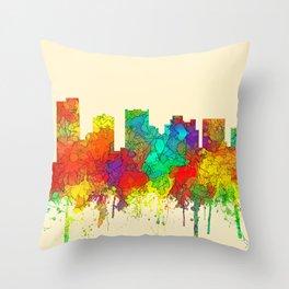 Scottsdale, Arizona Skyline - SG Throw Pillow