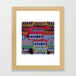 geometric number 6 Framed Art Print