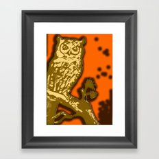 My Eyes Are Up Here #1 Framed Art Print
