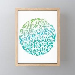 She Lives Her Own Story Framed Mini Art Print