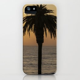 Glowing Palm Tree Sunset iPhone Case
