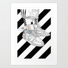 Jordan 1 Off White Poster Art Print