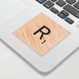 Scrabble Letter R - Large Scrabble Tiles Sticker
