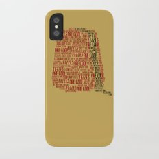 Fezzes are cool (Doctor Who) iPhone X Slim Case