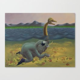 The truth of Loch Ness Canvas Print