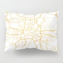 MUNICH GERMANY CITY STREET MAP ART Pillow Sham