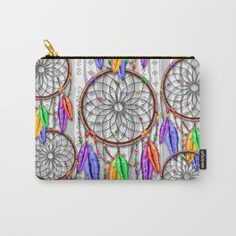 Dreamcatcher Rainbow Feathers Carry-All Pouch
