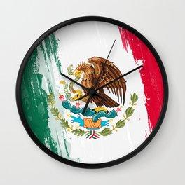 Mexico's Flag Design Wall Clock