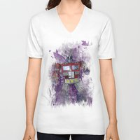 optimus prime V-neck T-shirts featuring G1 - Optimus Prime by DesignLawrence