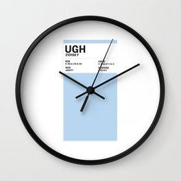 Ugh - Colour Card Wall Clock