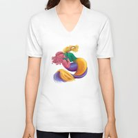 mermaids V-neck T-shirts featuring Mermaids by DeirdreEBeck