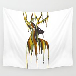Painted Stag Wall Tapestry