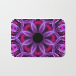 Violet Mandala for Healing Bath Mat