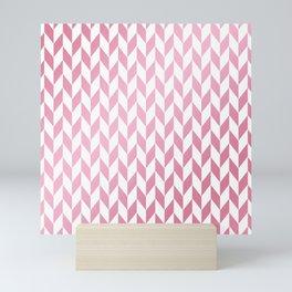 Elegant geometrical rose gold white pattern Mini Art Print