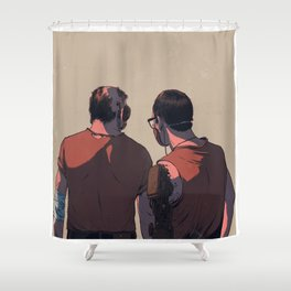 Hold On Shower Curtain