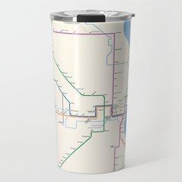 Milwaukee Transit System Map Travel Mug