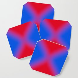 blue and red make purple Coaster