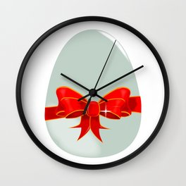Egg and Ribbon Wall Clock