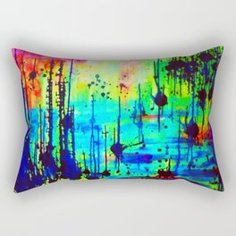 Waterlily Cat tails Rectangular Pillow