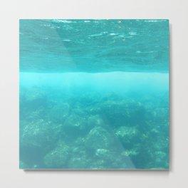 Watercolor Seascape, St John 09, USVI Metal Print