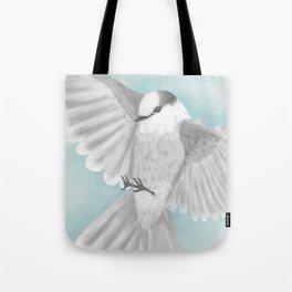 Gray Jay in Flight Tote Bag