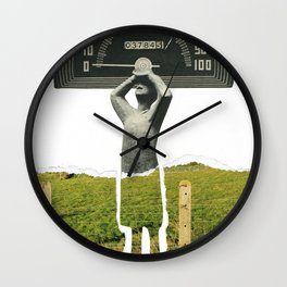 Don't Let The Speed Of Time, Fence You In...... Wall Clock