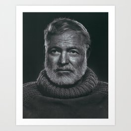 Earnest Ernest Hemingway Art Print