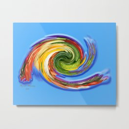 The whirl of life, W1.9C Metal Print