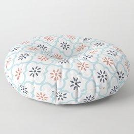 Red & Blue Mute Lattice Floor Pillow