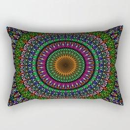 Hypnotic Church Window Mandala Rectangular Pillow