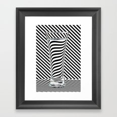 Striped Water Framed Art Print
