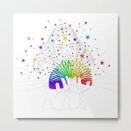 Rainbow Spring - Colors Decompressed Metal Print