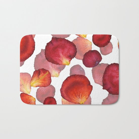 Rose Petal Pattern 04 Bath Mat