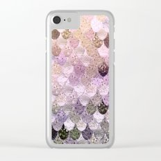 SUMMER MERMAID MOONSHINE GOLD Clear iPhone Case