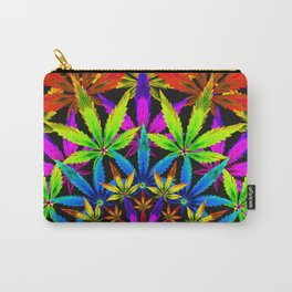 Stoners' Mandala Cannabis Leaves Carry-All Pouch